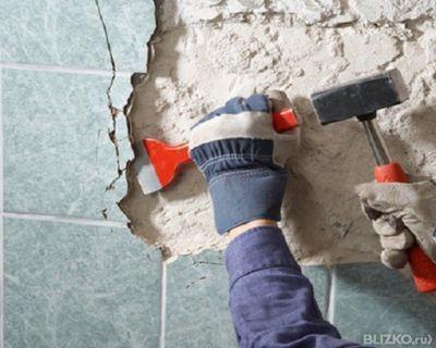 Демонтаж плитки, фото №1
