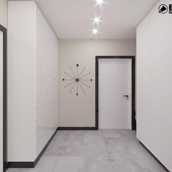 """Дизайн-проект квартири ЖК """"Журавлі"""", коридор"""