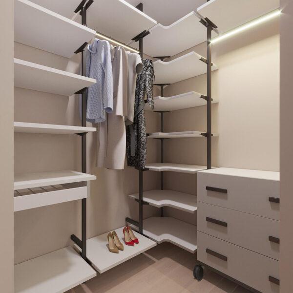 Дизайн интерьера однокомнатной квартиры ул. 12 апреля, гардеробная