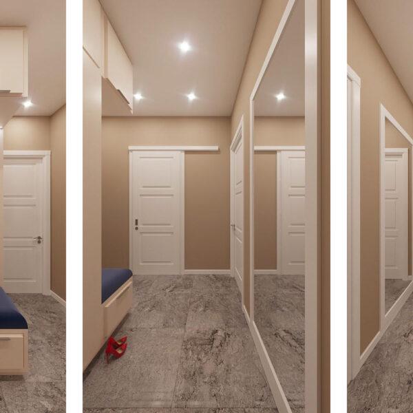 Дизайн интерьера однокомнатной квартиры ул. 12 апреля, прихожая