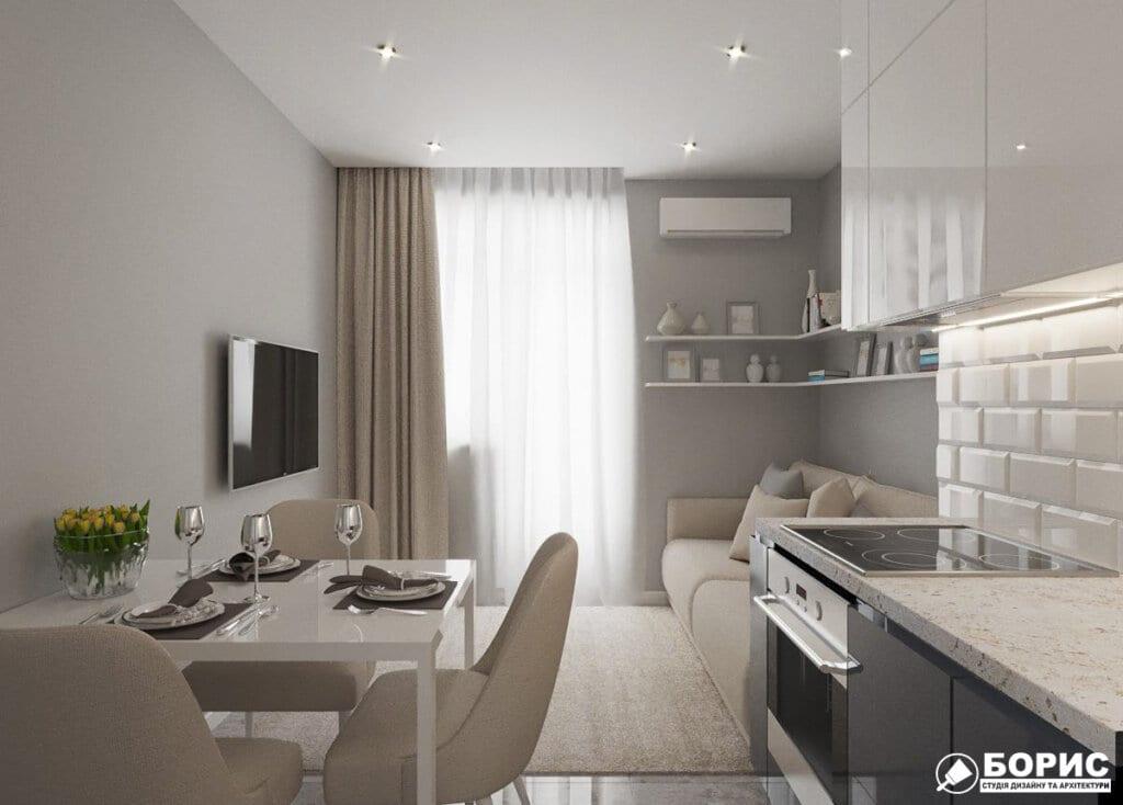 Дизайн однокомнатной квартиры ул. 12 апреля