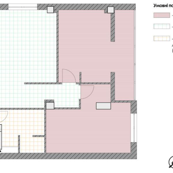 Дизайн-проект квартиры ЖК «Журавли», креслення покриття підлоги