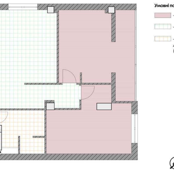 Дизайн-проект квартиры ЖК «Журавли», чертеж покрытие пола