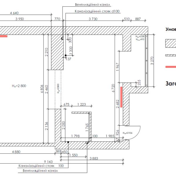 Дизайн-проект квартиры ЖК «Немецкий проект», чертеж площадь