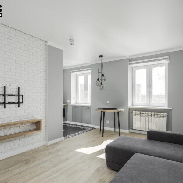 Ремонт квартиры ул. Юрия Паращука, гостиная вид слева