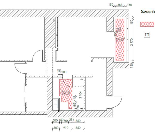"""Дизайн-проект квартири ЖК """"Німецький проект"""", креслення тепла підлога"""