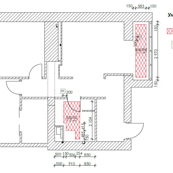 Дизайн-проект квартиры ЖК «Немецкий проект». чертеж теплый пол