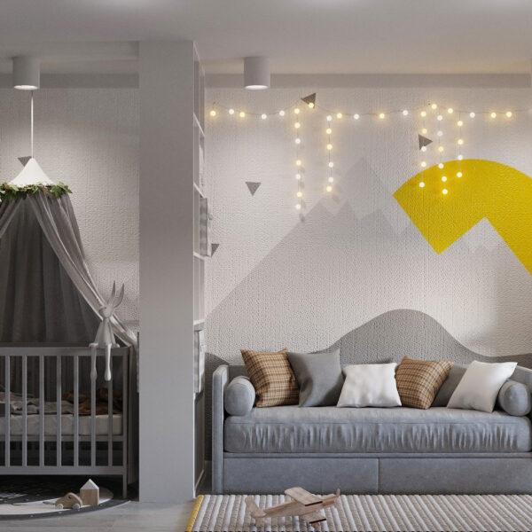 Дизайн интерьера квартиры ул. Юрия Паращука, детская вид слева