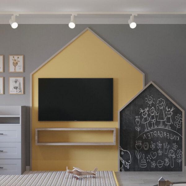 Дизайн интерьера квартиры ул. Юрия Паращука, детская вид справа