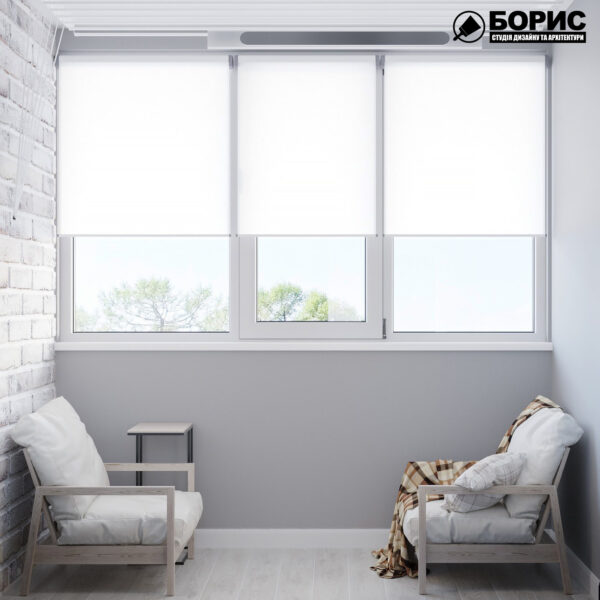 Дизайн интерьера квартиры ул. Юрия Паращука, балкон вид спереди