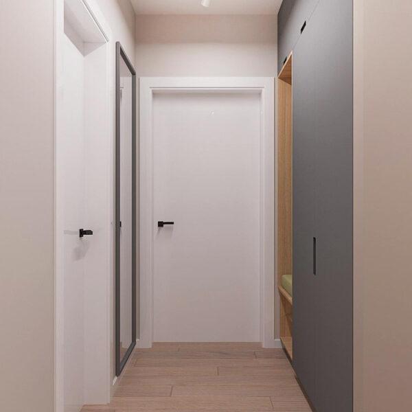 """Дизайн-проект ЖК """"Пролисок"""", коридор"""