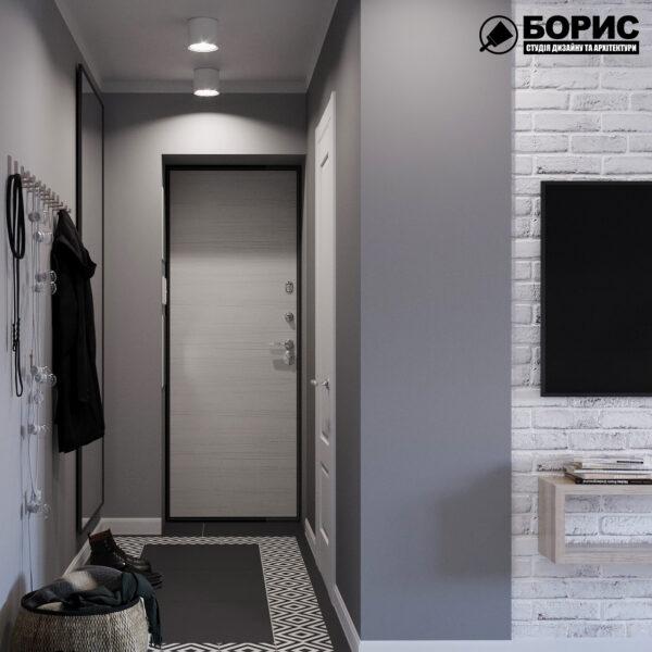 Дизайн интерьера квартиры ул. Юрия Паращука, прихожая