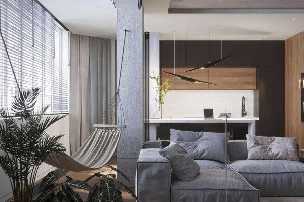 интерьер трехкомнатной квартиры