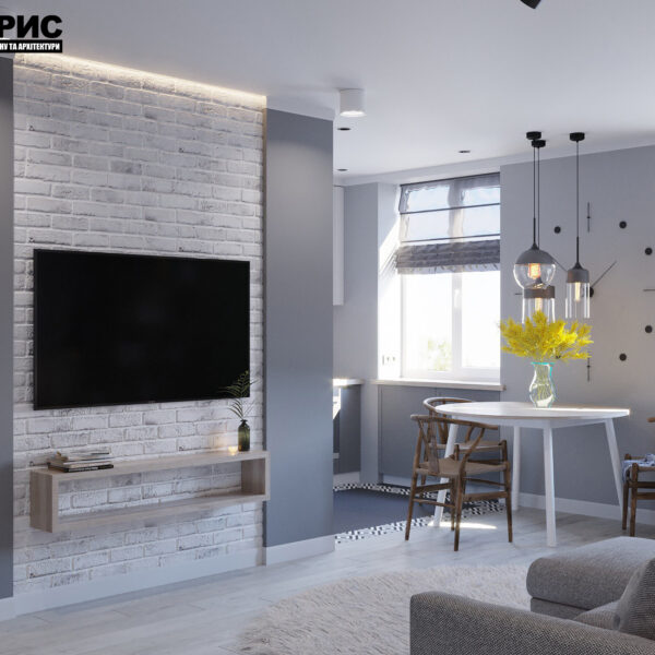 Дизайн интерьера квартиры ул. Юрия Паращука, гостиная