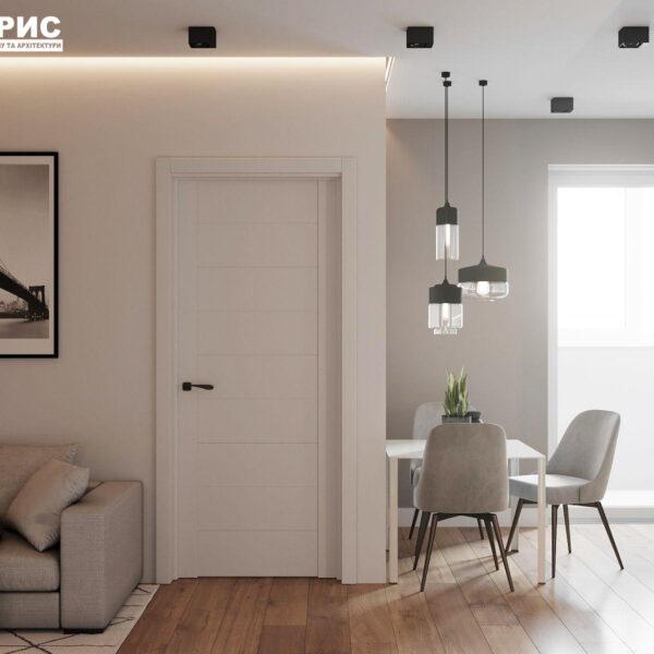 Дизайн-проект однокімнатної квартири вул. Єлизаветинська, вітальня
