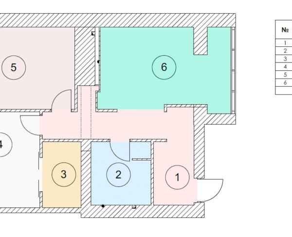 """Дизайн-проект квартири ЖК """"Німецький проект"""", креслення площа"""