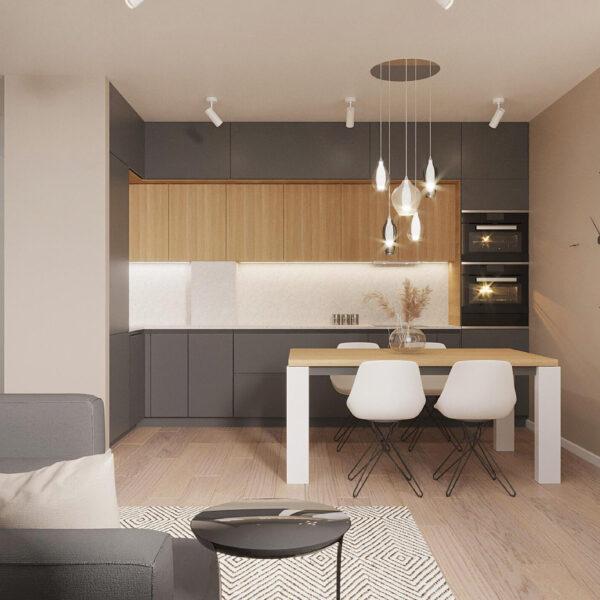 """Дизайн-проект ЖК """"Пролисок"""", кухня"""