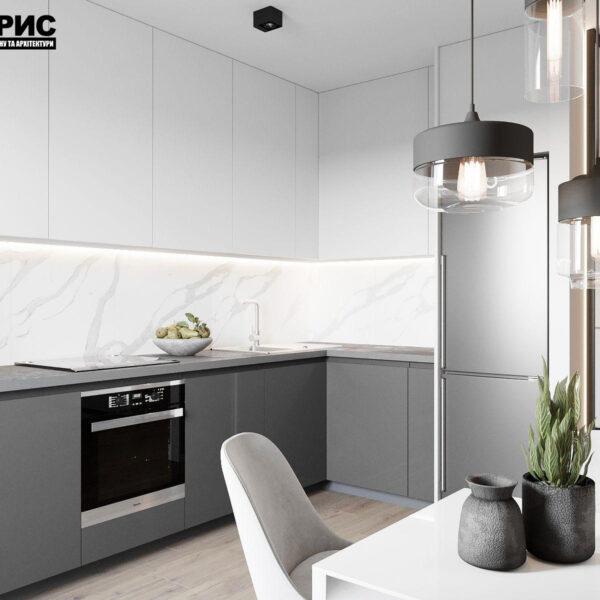 Дизайн-проект однокомнатной квартиры ул. Елизаветинская, кухня