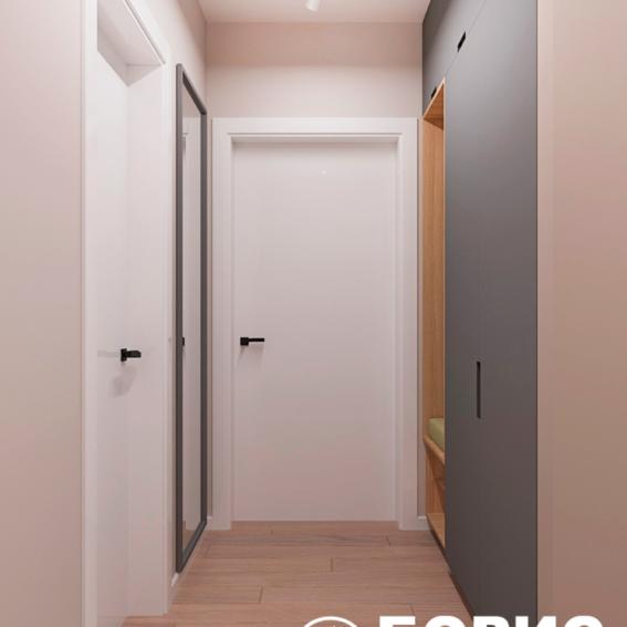 """Дизайн-проект ЖК """"Пролісок"""", коридор"""