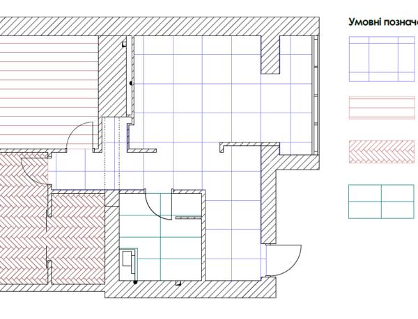 """Дизайн-проект квартири ЖК """"Німецький проект"""", креслення покриття"""