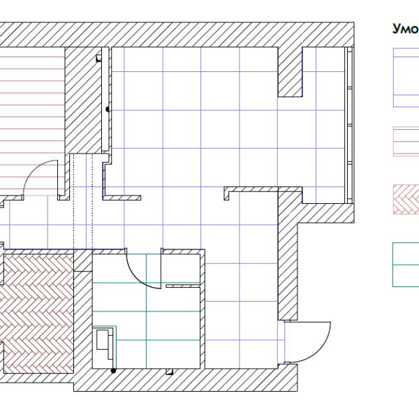 Дизайн-проект квартиры ЖК «Немецкий проект». чертеж покрытие