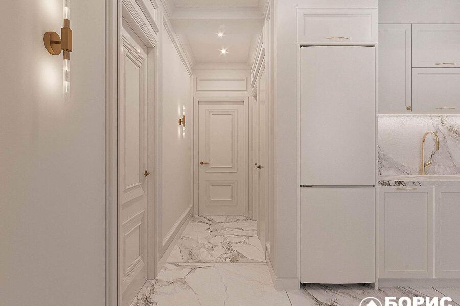 Дизайн-проект квартиры ЖК «Немецкий проект», коридор фото №2