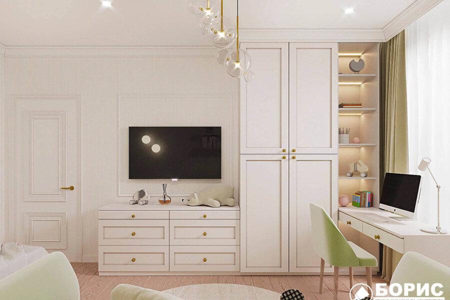 Дизайн-проект квартиры ЖК «Немецкий проект», детская вид сзади