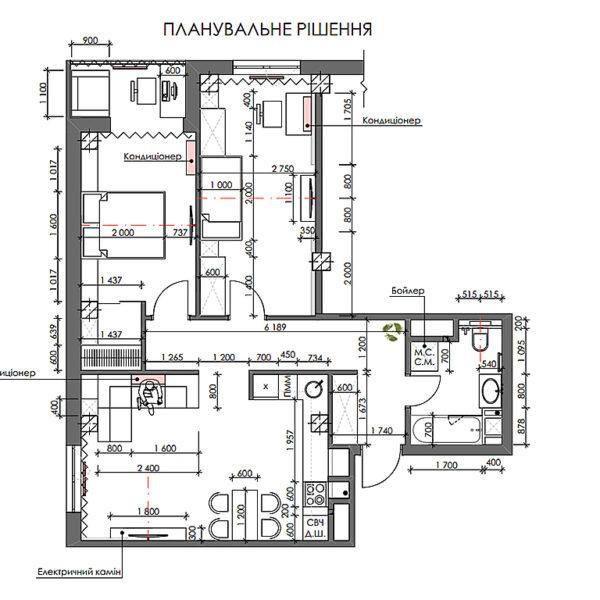 """Дизайн-проект ЖК """"Пролисок"""", планировочное решение"""