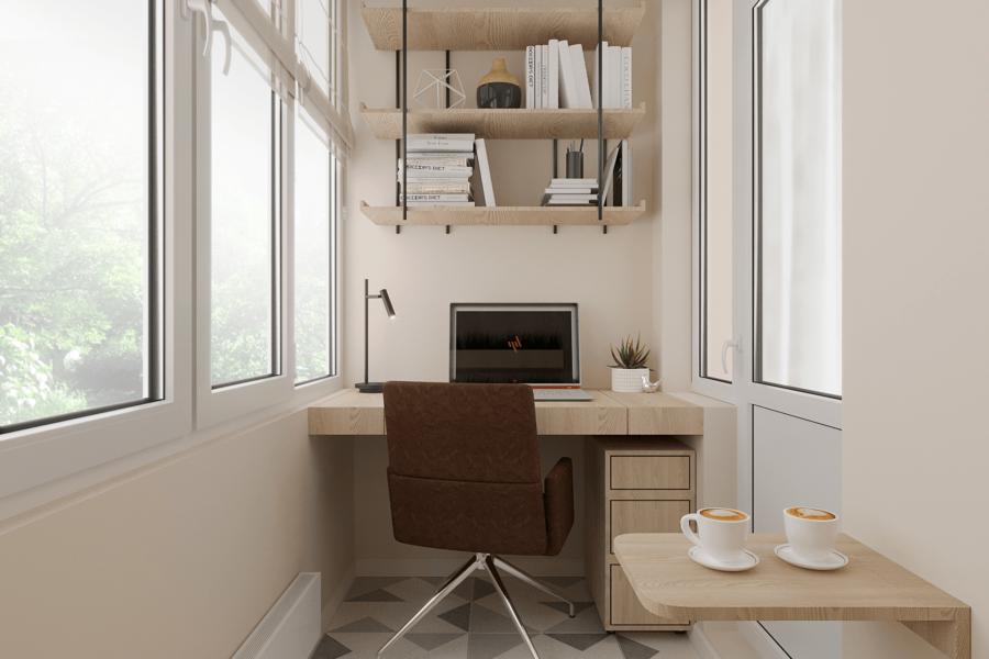 Дизайн-проект ЖК «Пролисок» балкон вид справа