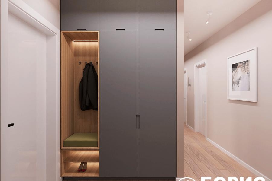 Дизайн-проект ЖК «Пролисок», коридор фото №3