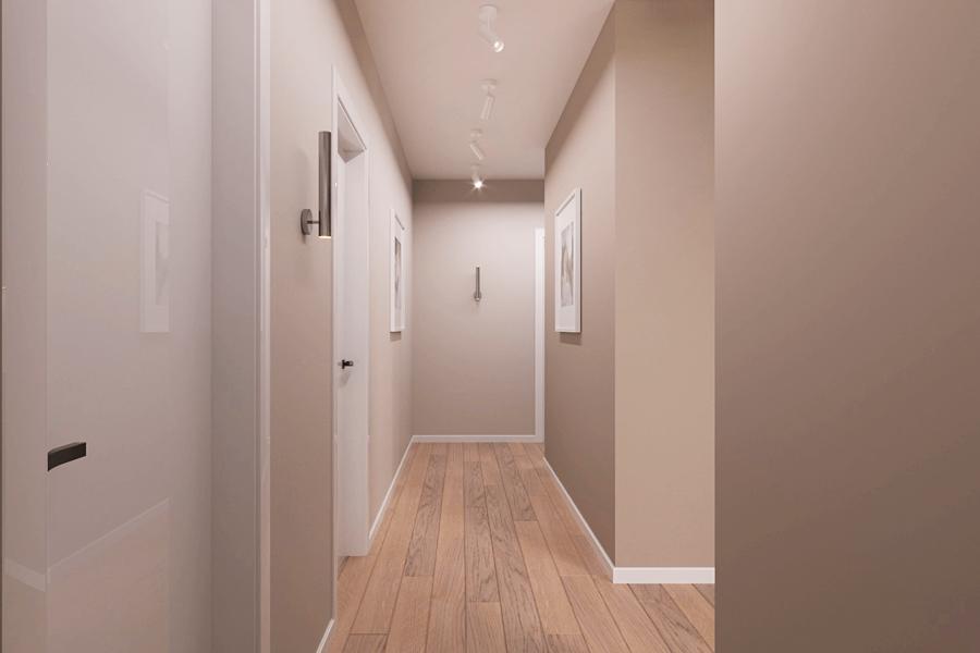 Дизайн-проект ЖК «Пролисок», коридор фото №4