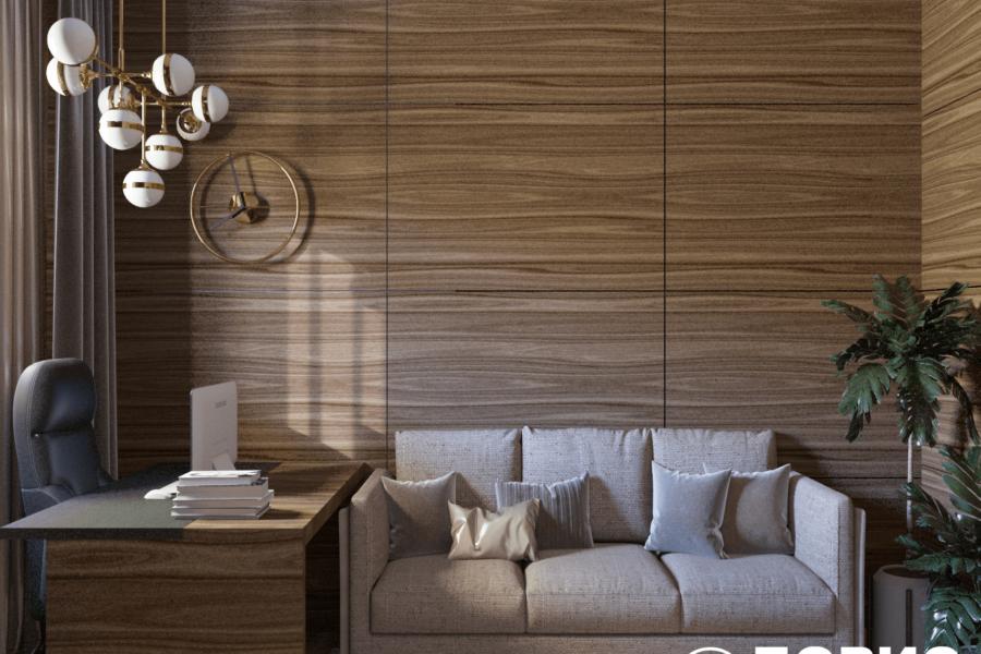 Дизайн-проект двухэтажной квартиры ЖК «Клеменова Дача», кабинет