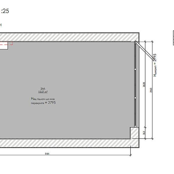 Дизайн-проект фастфуда, план обмерный