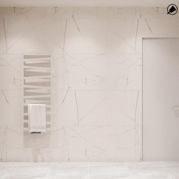 """Дизайн-проект однокімнатної квартири ЖК """"Райдужний"""", санвузол вид ззаду"""