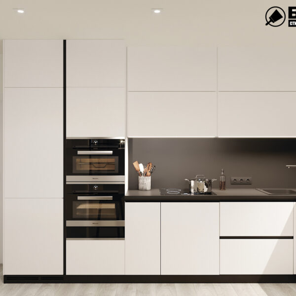 "Дизайн-проект двокімнатної квартири ЖК ""Дует"", кухня вид спереду"