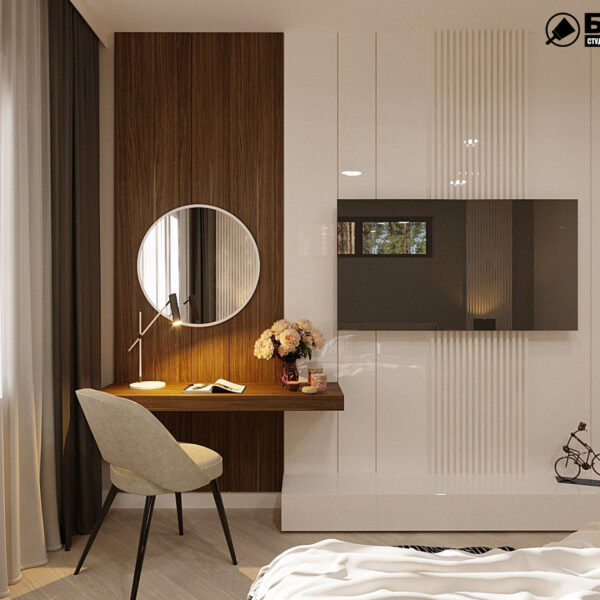 Дизайн-проект приватного будинку, спальня , туалетний столик