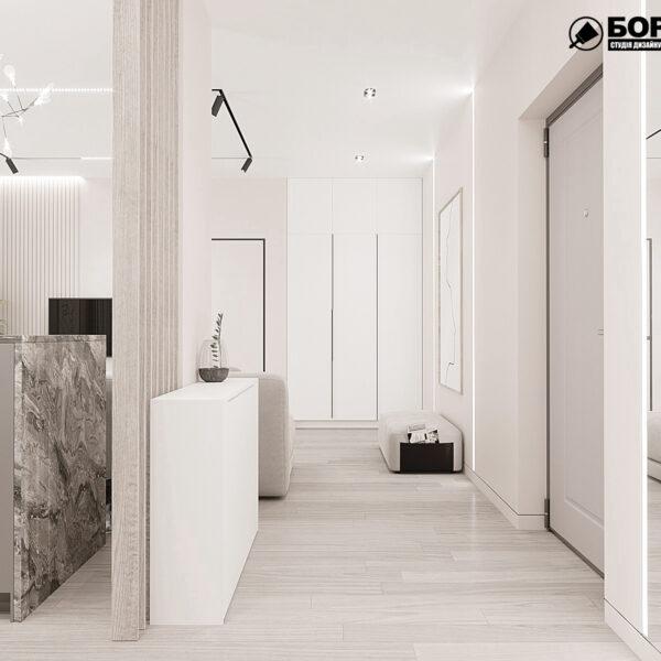 """Дизайн-проект однокімнатної квартири ЖК """"Райдужний"""", передпокій"""