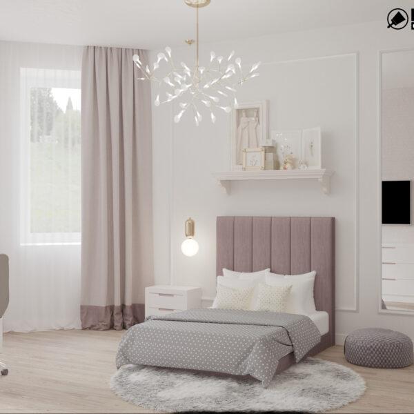"""Дизайн-проект трикімнатної квартири ЖК """"Сокольники"""", дитяча кімната вид спереду"""