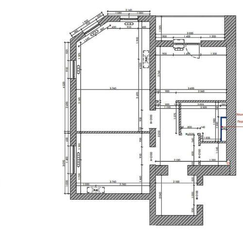 Дизайн-проект інтер'єру квартири «ЖК Левада 2», план монтажу