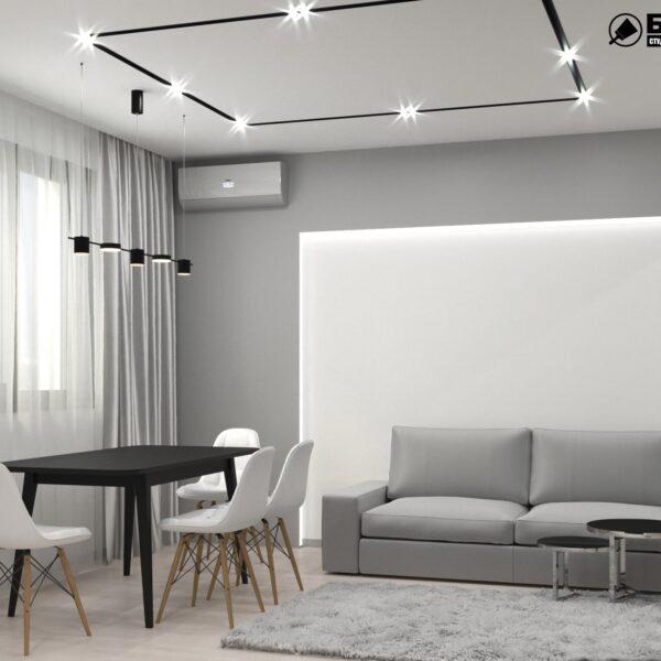 Дизайн-проект трехкомнатной квартиры по адресу: ул. Клочковская, 201-а, кухня