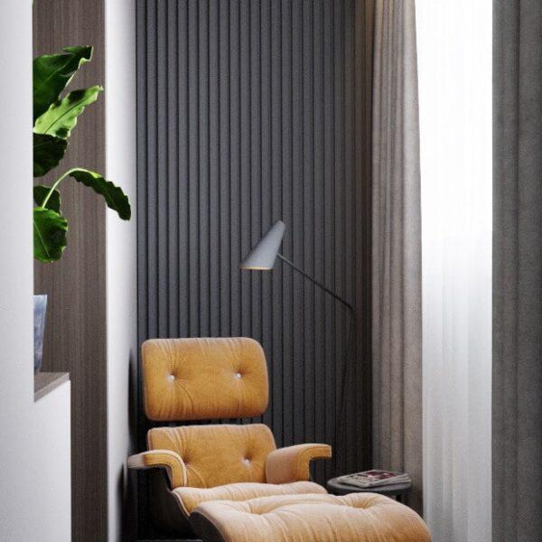 """Дизайн-проект однокімнатної квартири ЖК """"Архітекторів"""", лоджія вид зліва"""
