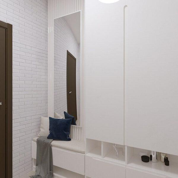 Дизайн-проект частного дома, прихожая вид сбоку