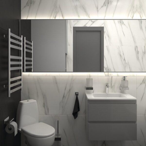 Дизайн-проект трехкомнатной квартиры по адресу: ул. Клочковская, 201-а, санузел вид спереди