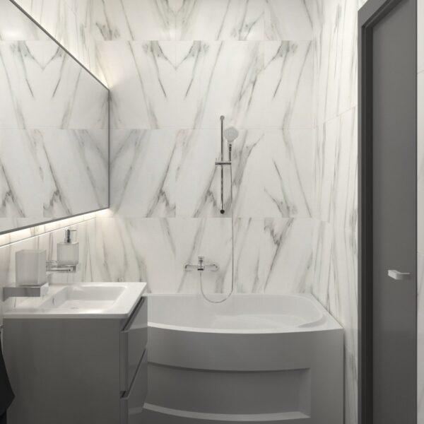 Дизайн-проект трикімнатної квартири за адресою: вул. Клочківська, 201-а, санвузол вид справа