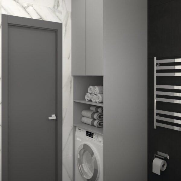 Дизайн-проект трехкомнатной квартиры по адресу: ул. Клочковская, 201-а, санузел вид сзади