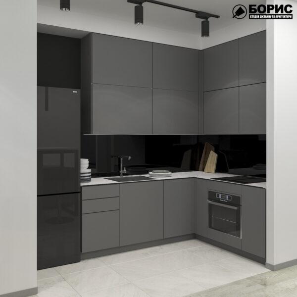 "Дизайн-проект однокомнатной квартиры ЖК ""Птичка"", кухня"