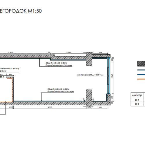 Дизайн інтер'єру квартири-студії, план монтажу перегородок