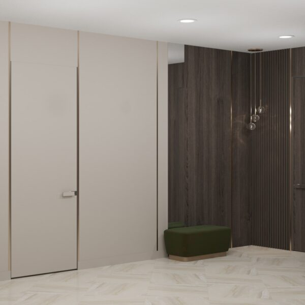 """Дизайн-проект двухэтажной квартиры ЖК """"Клеменова Дача"""", холл"""