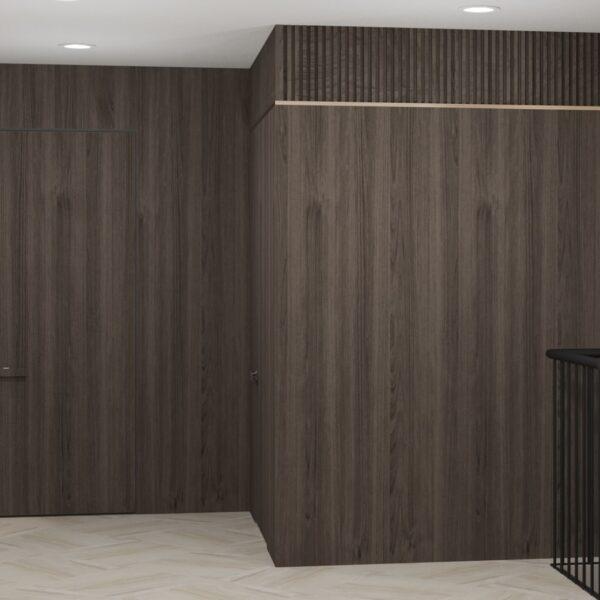 """Дизайн-проект двухэтажной квартиры ЖК """"Клеменова Дача"""", холл фото 2"""