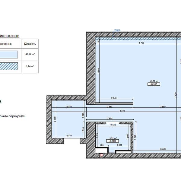 """Дизайн-проект інтер'єра квартири ЖК """"Московський"""", план стелі"""